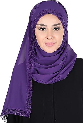 شال للنساء كروس وشاح فوري شيفون Modesty عمامة قبعة رأس لف