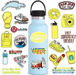 VSCO Stickers 100 Pack, Cute Peppa Trendy Vinyl Sticker for Teens Vsco Girl Meme, Yellow Starter Stuff Decals for Hydro Flask Frost Water Bottles Hydroflasks Waterbottles Laptop Phone Case Skateboard