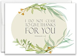 Christian Thank You Cards with Scripture - Pack of 24