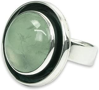 Prehnite .925 Sterling Silver Taxco Ring, Verdant Glow'