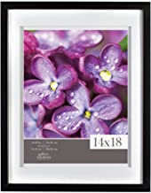Gallery Solutions 14x18 Black Wood Wall Frame with Double White Mat for 11x14 Image