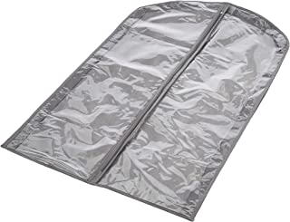 AmazonBasics Fabric Garment Bags, Grey - 5-Pack