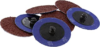 Abn Aluminum Oxide Roloc Abrasive Sanding Discs 50-Pack, 2in, 36 Grit – Metal Wheels for Surface Prep and Finishing