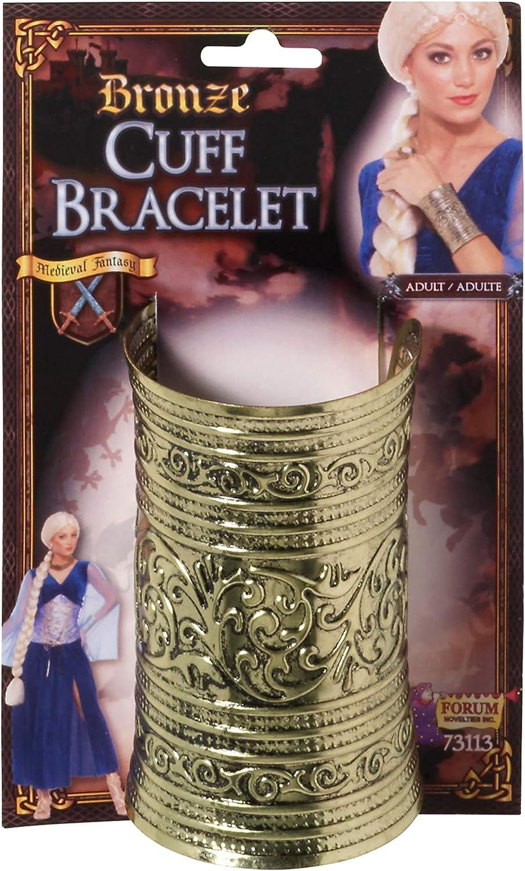 Forum Novelties Bronze Cuff Bracelet Costume Jewellery