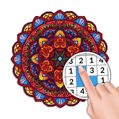Mandala para Colorir com Números para Adultos