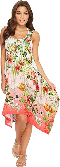 Green Dragon - Hibiscus Sublime Cordelia Beach Dress