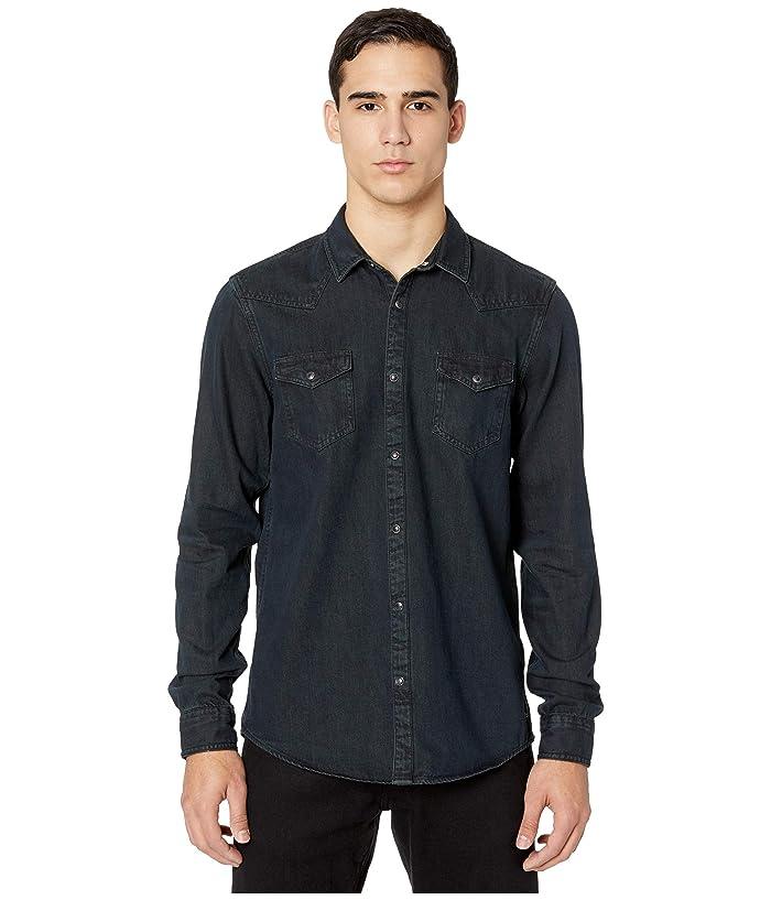 Men's Vintage Workwear – 1920s, 1930s, 1940s, 1950s Scotch  Soda Ams Blauw Denim Western Shirt in Seasonal Washes Black Mens Clothing $69.19 AT vintagedancer.com