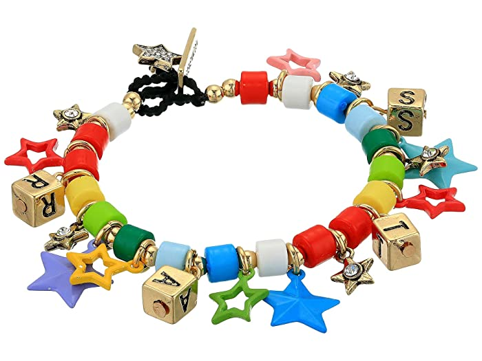 Steve Madden  Star Charm Toggle Bracelet (Yellow Gold-Tone/Multi) Bracelet
