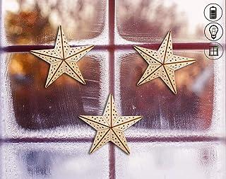 Engel Stern Weihnachten Deko Weihnachtsdeko Fensterdeko 14,5*7 cm