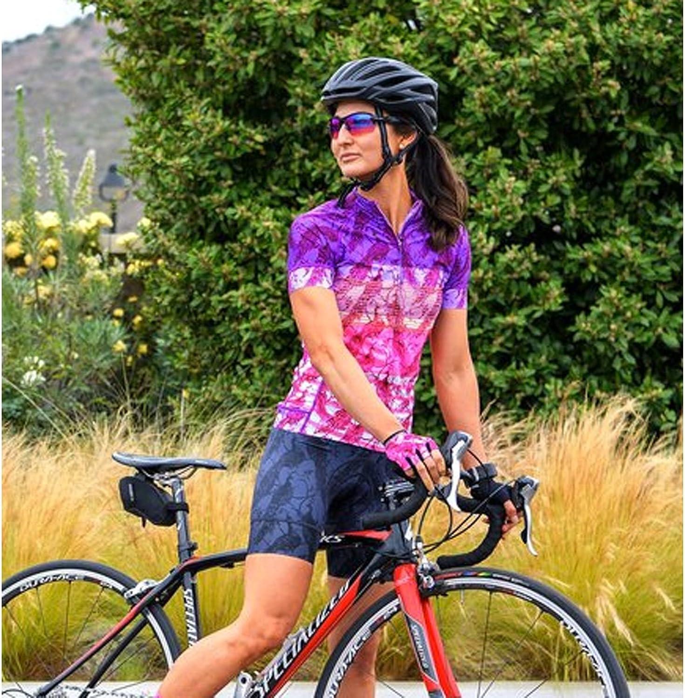 Shebeest 2018 Women's Divine La Toile Short Sleeve Cycling Jersey3238-LT