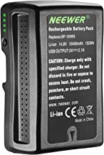 Neewer V Mount/V Lock Battery - 150Wh 14.4V 10400mAh Rechargeable Li-ion Battery for Broadcast Video Camcorder,Compatible ...