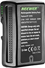 Neewer V Mount/V Lock Battery - 150Wh 14.4V 10400mAh Rechargeable Li-ion Battery for Broadcast Video Camcorder,Compatible with Sony HDCAM, XDCAM, Digital Cinema Cameras and Other Camcorders
