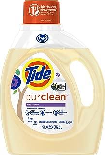 Tide PurClean Laundry Detergent, Honey Lavender Scent, 75 Oz