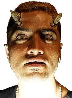 Demon Horns Latex Prosthetic Appliance.