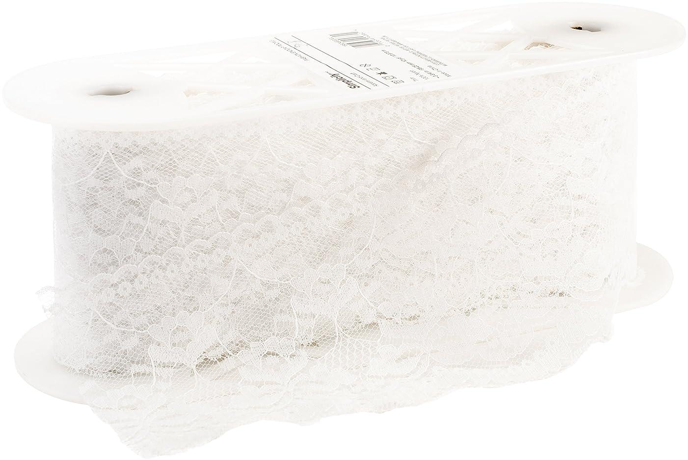 Wrights 1862490030J Scalloped Flat Lace, 3-3/4