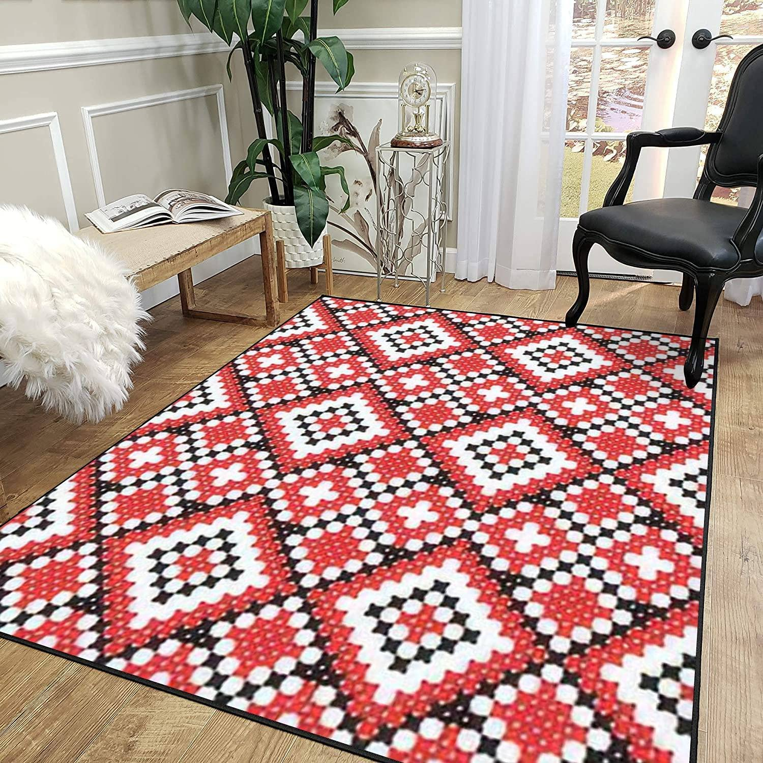 Challenge the lowest price Rug Pad Seamless Super sale period limited Embroidered Good Handmade Like Cross Stitch Eth