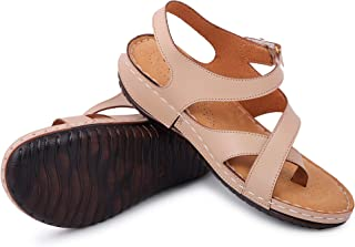 YAHE PU Leather Doctor Sole Orthopedic Sandals for Womens Girls Ladies Y-511