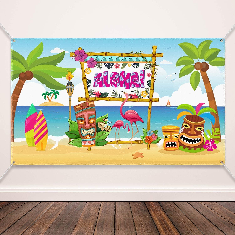 Hawaiian Aloha Party Decoration Supplies Beach Backdrop Party Al