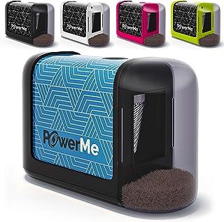 PowerMe Electric Pencil Sharpener - Battery operated، (No Cord) برای خانه، دفتر، مدرسه، هنرمند، دانشجویان و بیشتر! - فوق العاده قابل حمل، ایده آل برای شماره 2 و مداد رنگی (طراحی، رنگ آمیزی)