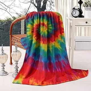 Unicorns Farting Tie Dye Rainbow Art Wallpaper Summer Thick Reversible Blanket Microplush Living Room/Bedroom Warm Throw Blanket Flannel Fleece Blanket, 59 X 79 Inch