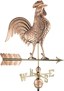 copper weathervane rooster
