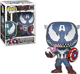 Funko Pop Marvel: Venom - Figura coleccionable de Capitán América de Venom, multicolor