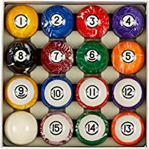 "Collapsar Deluxe 2-1/4"" Billiard Pool Balls Marble-Swirl Style Billiards Ball Complete 16 Ball Set (Several Style Available)"