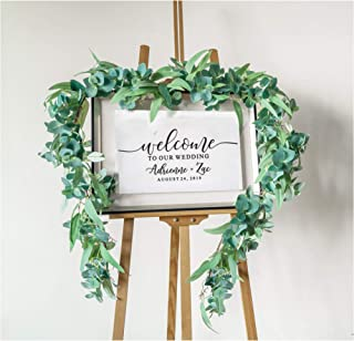 "LE OCTANE Eucalyptus Garland- 50"" 4.2 ft Handmade Artificial Plants Greenery Garland - Wedding Arch Decor Fake Plants- Silver Dollar Eucalyptus Artificial"