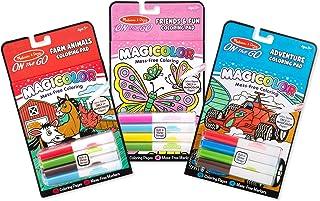 Melissa & Doug 93376 On the Go Magicolor Coloring Books Set - Farm Animals, Friends and Fun, Adventure