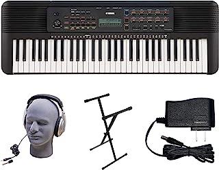 Yamaha PSR-E273 PKS Paquete de teclado premium de 61 teclas con fuente de alimentación, soporte estilo X y auriculares (YAM PSRE273