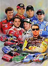 Nascar Racing Stars 3D Poster Wall Art Decor Print | 11.8 x 15.7 | Lenticular Posters & Pictures | Memorabilia Gifts for Guys & Girls Bedroom | Kyle Busch, Dale Earnhardt Jr & Jeff Gordon Picture