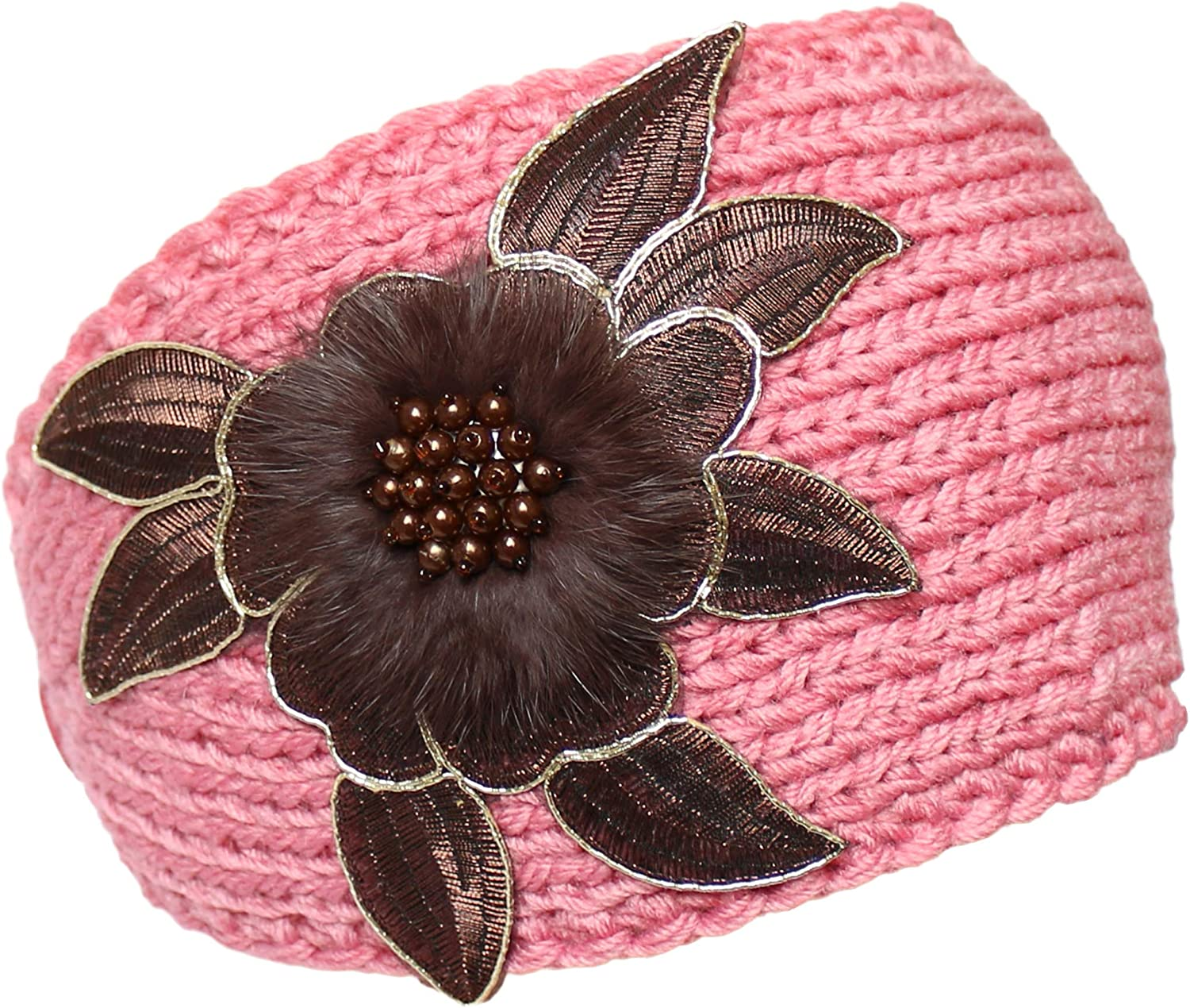 KMystic Winter Headband with Flower Accent
