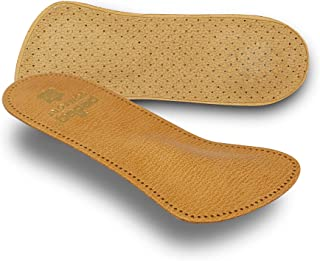 Pedag Comfort German Handmade 3/4 Genuine Leather Orthotic with Metatarsal Arch Support Pad and Heel Cushion, Great for He...