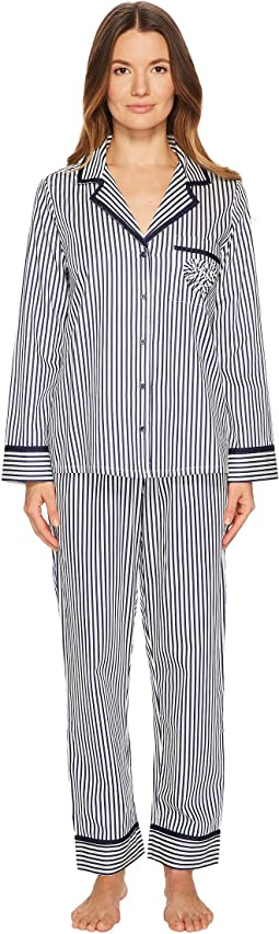 Kate Spade New York - Pinstripe Sateen Pajama Set