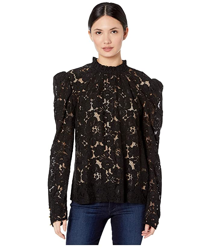 1890s-1900s Fashion, Clothing, Costumes WAYF Emma Puff Sleeve Top Black Womens Blouse $89.00 AT vintagedancer.com