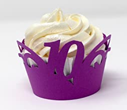 All About Details 10 Cupcake Wrappers,12pcs (Purple)