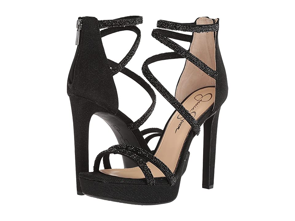 Jessica Simpson Beyonah (Black Glitter Gabor) High Heels