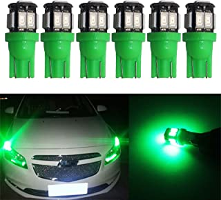 YaaGoo Compact Small bulb License Plate Lights Lamp,T10 168 194 2825 W5W,green,6pcs