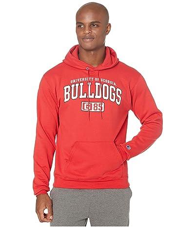 Champion College Georgia Bulldogs Eco(r) Powerblend(r) Hoodie (Scarlet 2) Men