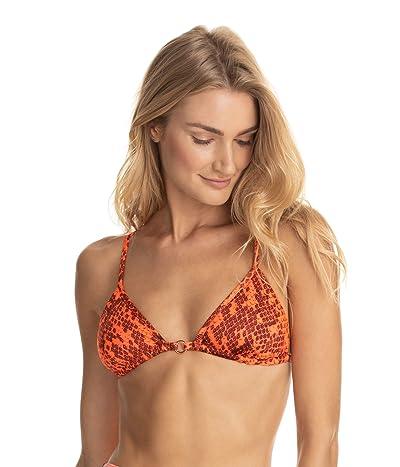 Maaji Snake Charmer Arabelle Slider Triangle Top (Orange) Women