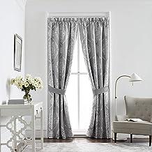 Croscill Isla Curtain Panels, 82 x 84, Grey