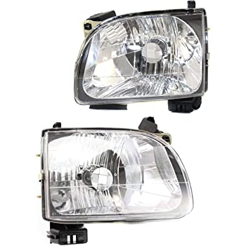 Headlight Set Compatible with 2001-2004 Toyota Tacoma Left Driver and Right Passenger Side Halogen With bulb(s)