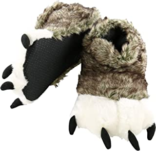 Lazy One Animal Paw Slippers for Kids and Adults, Fun Costume for Kids, Cozy Furry Slippers