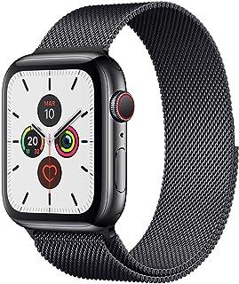 Shoppy Lab Compatibile Con Cinturino Di Ricambio I Watch 42/44mm In Maglia Serie 1 2 3 4 5 6 Nero Black Grey