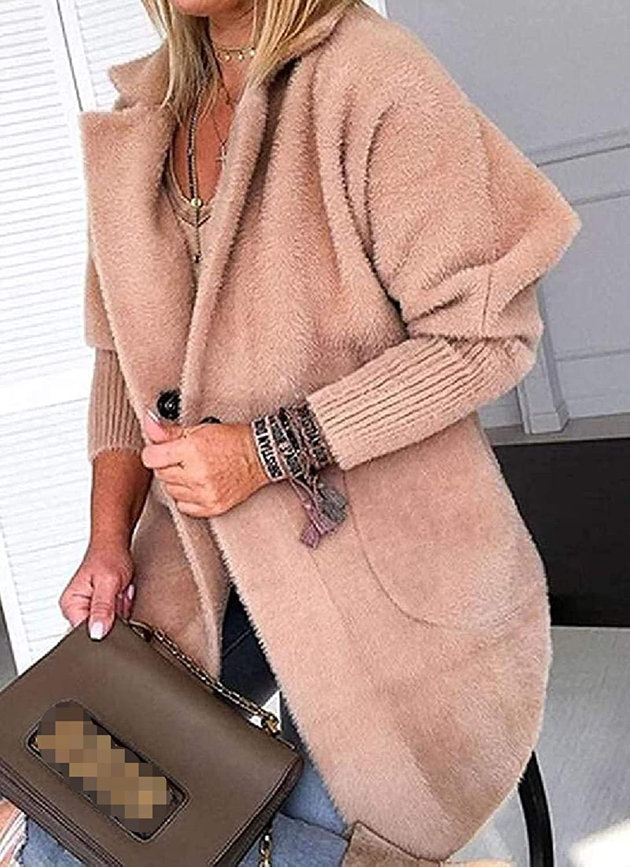 DXSS Women Outwear Winter Overcoat Fleece Fuzzy Pea Coat