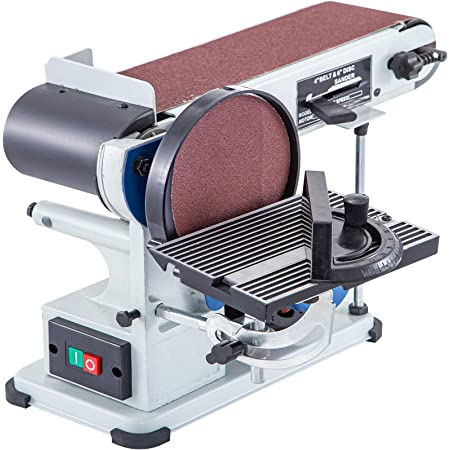 Happybuy Belt Disc Sander 4x36inch and 6inch Disc, Benchtop Disc Sander 375W,Disc Combo Sander with Built-In Dust Collection,Bench Sander for Woodworking
