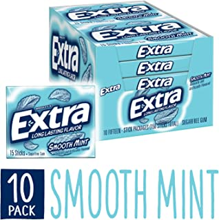 Extra Smooth Mint Sugarfree Gum (Pack of 10)