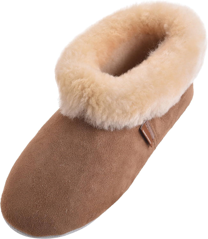 Shepherd Ladies Genuine Sheepskin Rolled Cuff Bootie Slipper
