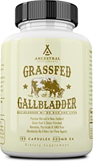 Ancestral Supplements Gallbladder w/Ox Bile & Liver — Supports Gallbladder, Bile Flow & Digestive Health (180 Capsules)