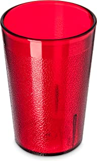 Carlisle 5526-8110 BPA Free Plastic Stackable Tumbler, 8 oz., Ruby (Pack of 6)